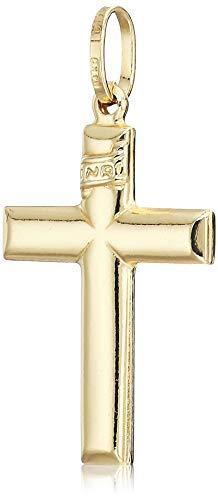 Sonia Jewels 14k Yellow Gold Cross Crucifix Pendant Charm Plain 1