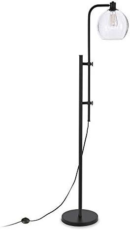Henn Hart FL0117 Modern Industrial Height-Adjustable Floor Lamp