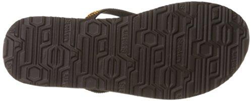 SKECHERS 38625 VIBES CHILL negro zapatos deslizadores de señora chanclas de yoga de espuma Chocolate