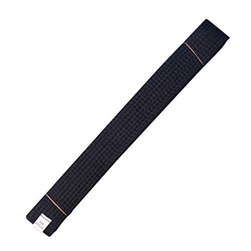 HongH Adult Taekwondo Belts Cotton Martial Arts Uniform Judo Karate TKD Jujitsu BJJ Aikido Kempo Rank Belt Accessories (Black)