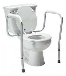 Lumex Versaframe Adjustable Toilet Safety Frame, Grey