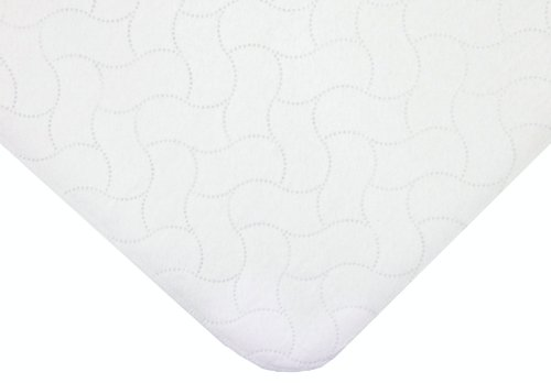 American Baby Company Waterproof Embossed Quilt-like Portable/Mini Protective Mattress Pad Cover, White