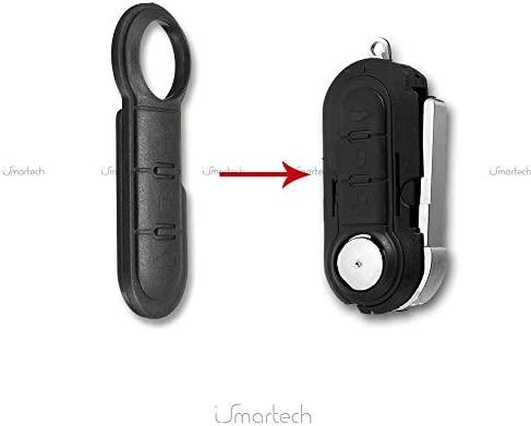 API-Parts - Botones para llave remota de los modelos de FIAT 500, Bravo, Doblo, Ducato, Panda y Punto