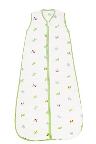 Slumbersac Summer Toddler Sleeping Bag 0.5 Tog - Bamboo Muslin Cars - 18-36 months/110cm