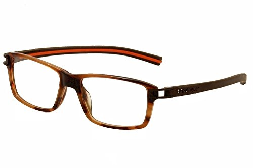 Tag Heuer Eyeglasses Track S TH7601 TH/7601 002 Brown/Orange Optical Frame - Heuer Tag Track