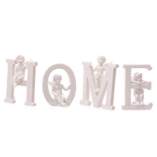White Cherub H O M E Letters - Set Of 4 ()