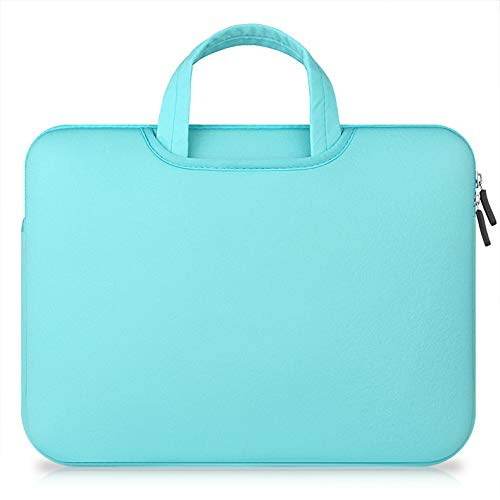 TechCode 15.6 inch Laptop Sleeve Case, Laptop Sleeve Foam Case Bag Multi-Functional Pocket Briefcase Outdoor Carrying Pouch Skin Cover for 15.6 Inch Laptops Notebook Computers Ultrabooks (Light Blue) by TechCode (Image #1)