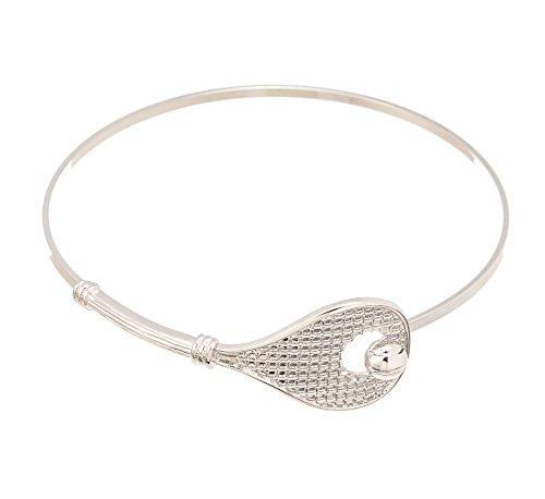 Tennis Racket Bracelet - Silver Jewelry Gift for