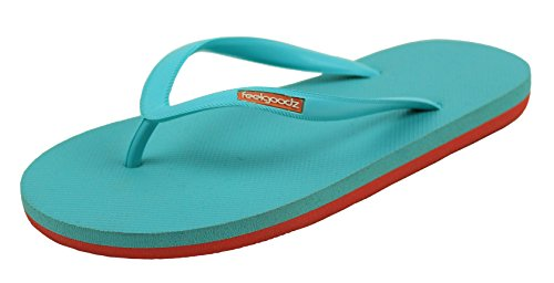 Feelgoodz Womens Slimz Natural Rubber Filp Flops - Comfortable and Durable Natural Rubber Sole Yg0W8nT1