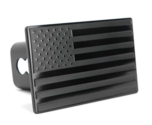 LFPartS USA US American Flag Emblem Metal Trailer Hitch Cover (Fits 2