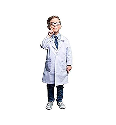 Natural Uniforms Real Children's Lab Coat for School Projects Halloween Costumes (12/14) (Youth Lab Coat)
