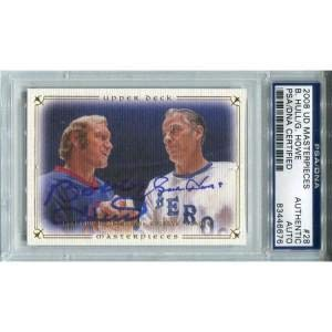 Gordie Howe And Bobby Hull Autographed 2008 Upper Deck Card (PSA/DNA) - Hockey Slabbed Autographed Cards