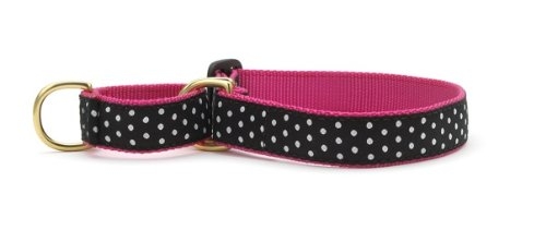 Up Country Black/White Dot Martingale Dog Collar