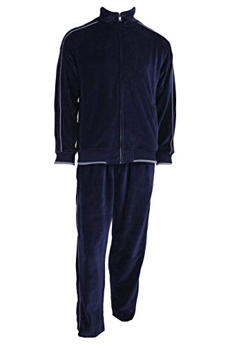 - Sweatsedo Uncle Larry Navy Blue Velour Tracksuit (Large)
