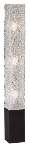 Textured Clear Acrylic Rectangular Floor Lamp