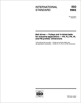 ISO 9982:1998, Belt drives - Pulleys and V-ribbed belts for
