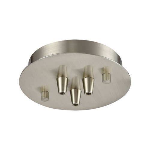 Elk Lighting 3SR-SN Accessory - 6 3-Port Round Canopy, Satin Nickel Finish ELK Lighting Group