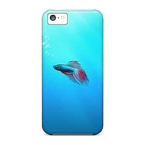 Excellent Design Fighter Fish Phone Case For Iphone 5c Premium Tpu Case