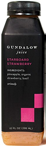 Gundalow Juice Starboard Strawberry All Natural Cold Pressed Juice, No Artificial Flavors, 7 Pack