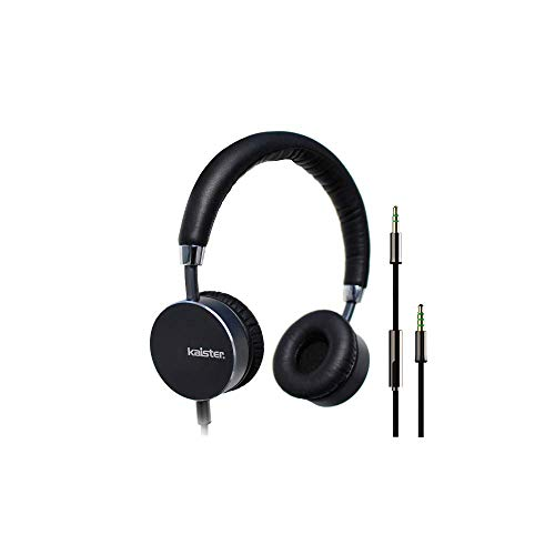 [해외]kaister HeadphonesMicrophone and Volume Control Folding Lightweight Headset for Cellphones Tablets Smartphones Laptop Computer PC Mp34 (Balck) / kaister HeadphonesMicrophone and Volume Control Folding Lightweight Headset for Cellph...