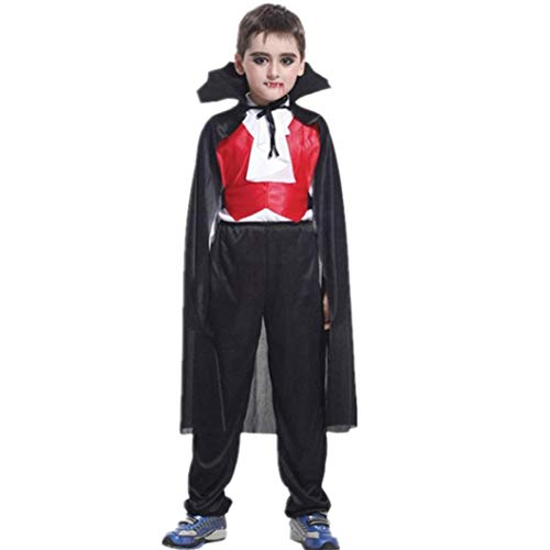 Vinjeely Toddler Boys Halloween Clothes Cosplay Costume Tops+Pants+Cloak