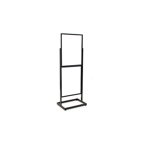 New Black Finished Floor Standing Sign Holder 22''x28'' Double Frame 65.5''high