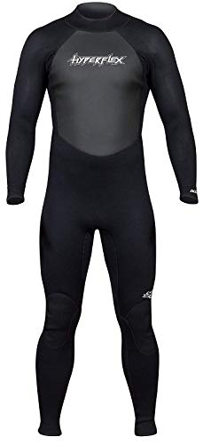 Hyperflex Women's and Men's 3mm Full Body Wetsuit - SURFING, Water Sports, Scuba Diving, Snorkeling - Comfort, Flexible and Anatomical Fit - and Adjustable Collar - Black, XXL