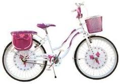 BAKAJI Bicicletta per Bambina Ragazze 20 Pollici Fiocco Telaio