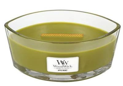 WoodWick APPLE BASKET HearthWick Flame Scented Candle by 76056