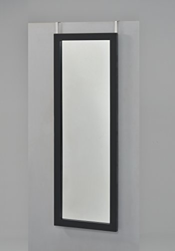 Black Finish Wooden Cheval Bedroom Wall Mount Mirror or Over the Door