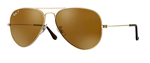 Ray Ban RB3025 001/57 58M Gold/ Polarized Brown - Gold Ban Aviators And Brown Ray