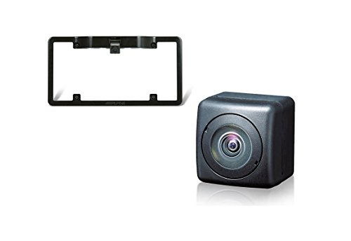 Alpine HCE-C104 Universal Rear View Camera+ Alpine KTX-C10LP License Plate Mounting Kit by Alpine