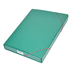 FIS PP Document Bag With Elastic Band, Green Color, F/S (210 x 330 mm) Size - FSBD1207GR