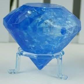 PicknBuy 3D Crystal - Puzzle 3D (plástico, efecto cristal), diseño de diamante, color azul
