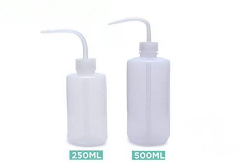 Danmu Plastic Squeeze Watering Bottle Wash Bottle 250ml and 500ml Gardening Tools/Succulent Plants (Bleach Dispenser)