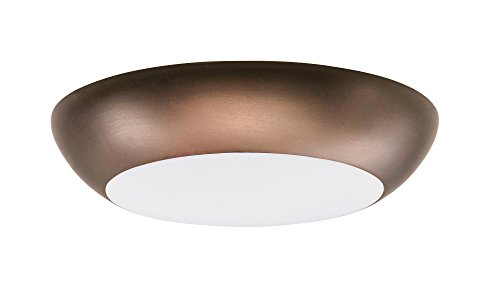 Maxim 87612WTBZ Diverse LED Flush Mount, Bronze Finish, White Glass, PCB LED Bulb , 100W Max., Damp Safety Rating, Standard Dimmable, Shade Material, Rated Lumens by Maxim Lighting (Image #4)