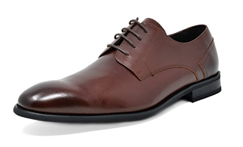 Bruno Marc Men's Washington-1 Dark Brown Genuine Leather Dress Oxfords Shoes - 10 M US by BRUNO MARC NEW YORK