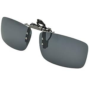 Besgoods Polarized Clip-on Flip up Metal Clip Sunglasses Lenses