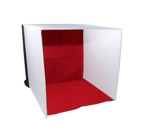Luxburg® Softbox Studio Kit Professionale da tavolo con Lampada alogena e 4 sfondi - 40x40x40 2 spesavip