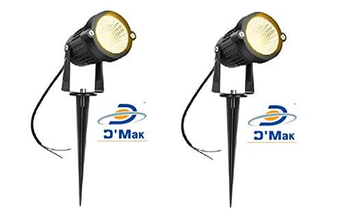 D'Mak™ LED Outdoor Garden Spot And Spike 3W IP65, Warm White 3000K, With 1 Year Warranty, Aluminium Body (3Watt) – Set of 2 | garden lights | | 3w garden light |