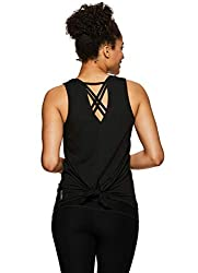 Women's Sleeveless Back Detail Yoga Tank Top