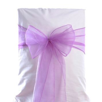 amazon com mds 100 pcs light purple organza chair sashes bows