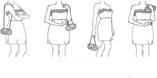 LXDDJsl kvinnor handväska clutches väska för kvinnor kvinnor kvinnor kvinnor kväll fest brud handväska axelväska liten koppling Tooy (färg: C) G