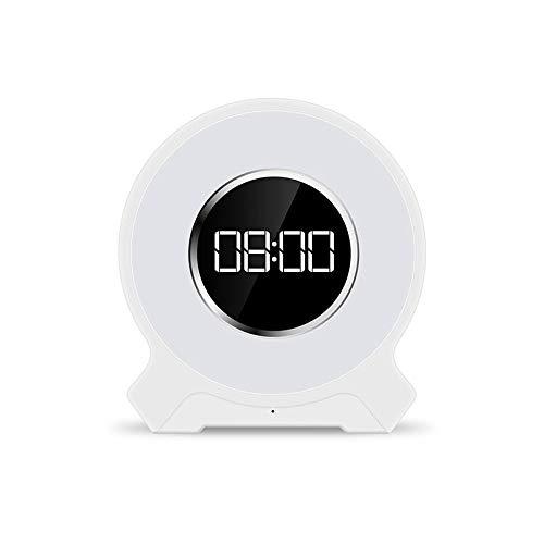 WWEDSF Reloj despertadorDespertador Led Luz Despertador De Radio ...