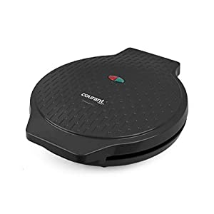 Courant Pizza Maker, 12 Inch Pizza Cooker and Calzone Maker, 1440 Watts Pizza Oven, Black