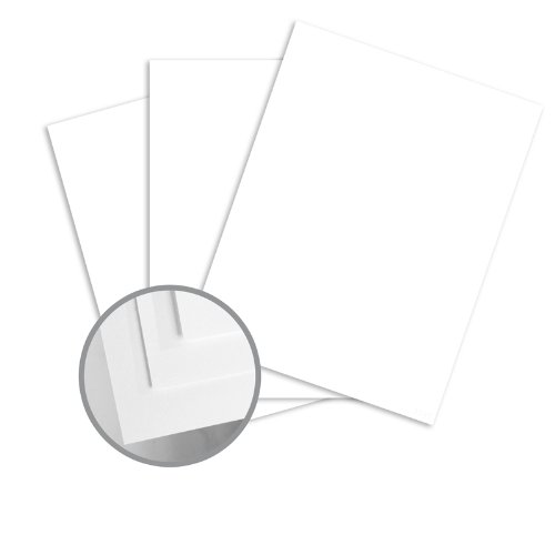 Finch Fine Opaque Bright White Card Stock - 8 1/2 x 11 in 80 lb Cover Smooth 250 per Package (Fine Finch Cover)