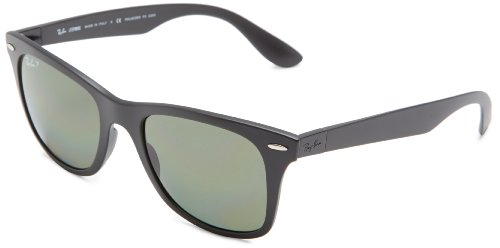 Ray-Ban WAYFARER LITEFORCE - MATTE BLACK Frame POLAR GREEN Lenses 52mm - Ban Green Matte Wayfarer Ray