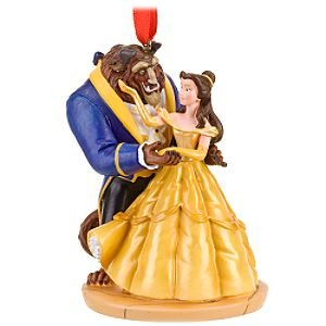 Amazoncom Disney Dancing Beast And Belle Ornament Home Kitchen