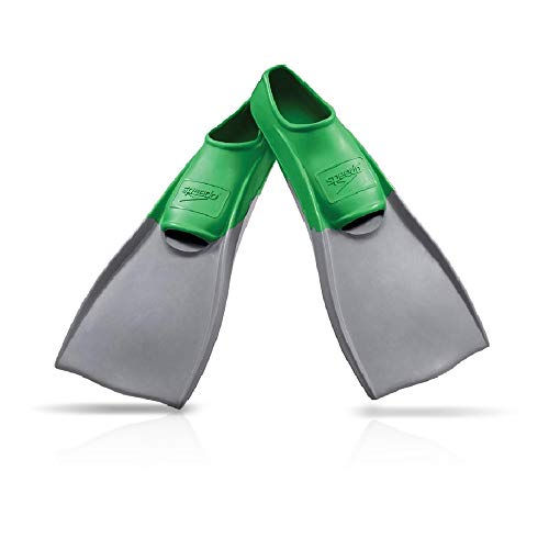 Speedo Rubber Swim Training Fins - S (W 6-7 / M 5-6) - Green