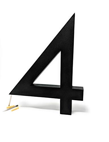 12 Inches LED Black House Numbers by JELSCO | Modern Big Sign Address Numbers (4) by JELSCO (Image #1)